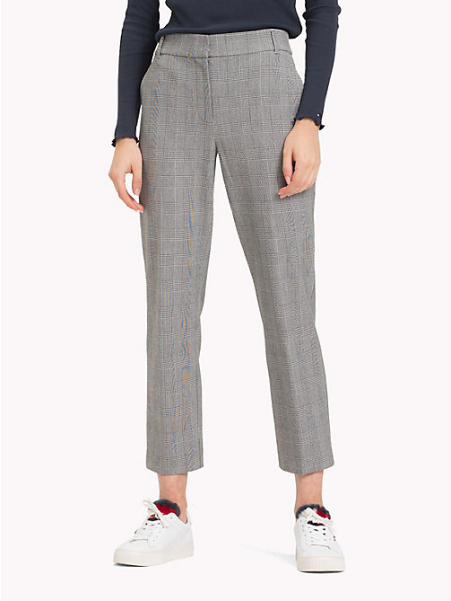 TOMMY HILFIGER Check Wool Ankle Grazers - PRINCE OF WALES POP - TOMMY HILFIGER Trousers - main image