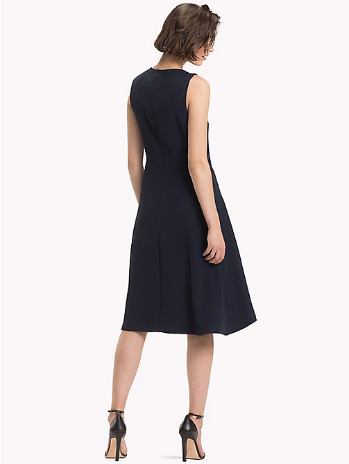 TOMMY HILFIGER Crepe High-Low Dress - MIDNIGHT - TOMMY HILFIGER Midi - detail image 1