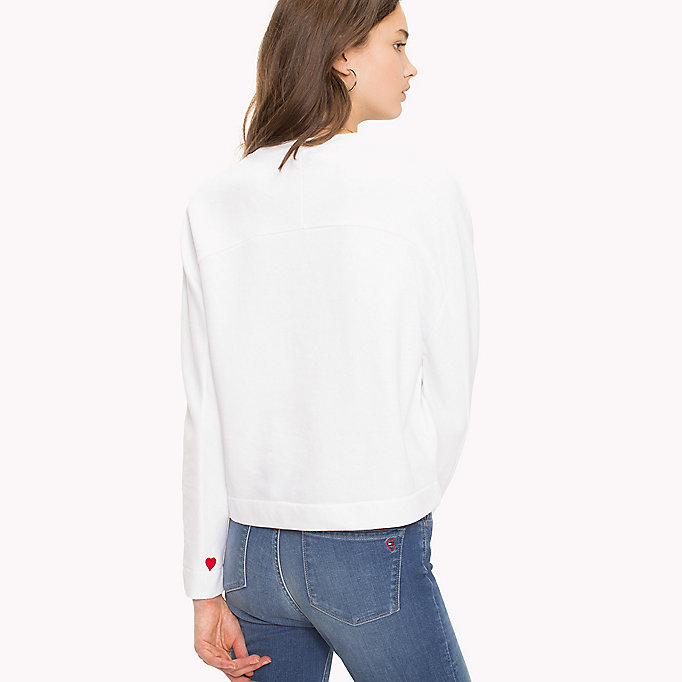 TOMMY HILFIGER Heart On Sleeve Sweatshirt - LIGHT GREY HEATHER / RED HEART - TOMMY HILFIGER Femmes - image détaillée 1