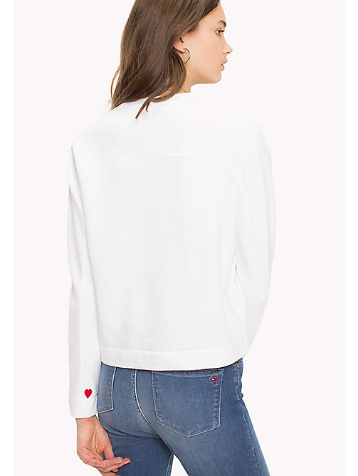 TOMMY HILFIGER Heart On Sleeve Sweatshirt - CLASSIC WHITE / TOMMY LOVE - TOMMY HILFIGER Sweatshirts - detail image 1