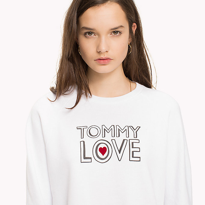 TOMMY HILFIGER Heart On Sleeve Sweatshirt - LIGHT GREY HEATHER / RED HEART - TOMMY HILFIGER Femmes - image détaillée 2