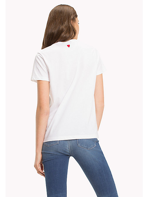 TOMMY HILFIGER Heart Logo T-Shirt - CLASSIC WHITE / RED HEART PRINT - TOMMY HILFIGER TOMMYXLOVE - detail image 1