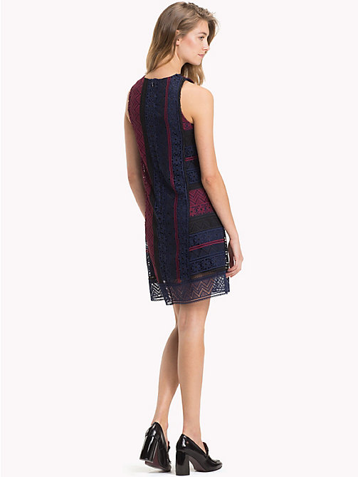 TOMMY HILFIGER Slim Fit Lace Shift Dress - CABERNET / SKY CAPTAIN MULTI - TOMMY HILFIGER Clothing - detail image 1
