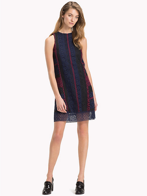 TOMMY HILFIGER Slim Fit Lace Shift Dress - CABERNET / SKY CAPTAIN MULTI - TOMMY HILFIGER NEW IN - main image