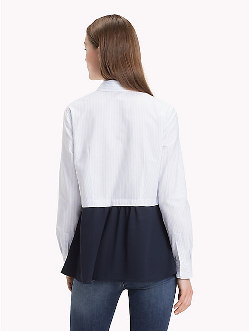 TOMMY HILFIGER Two-Tone Peplum Blouse - ITHACA STP / HEATHER - TOMMY HILFIGER Shirts - detail image 1