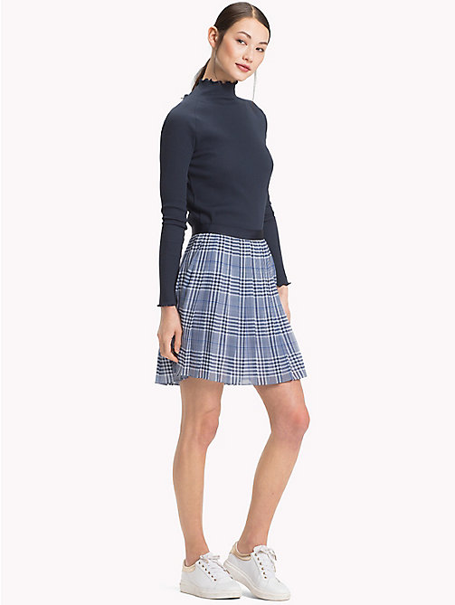 TOMMY HILFIGER Pleated Check Mini Skirt - PRINCE OF WALES POP - TOMMY HILFIGER Skirts - main image