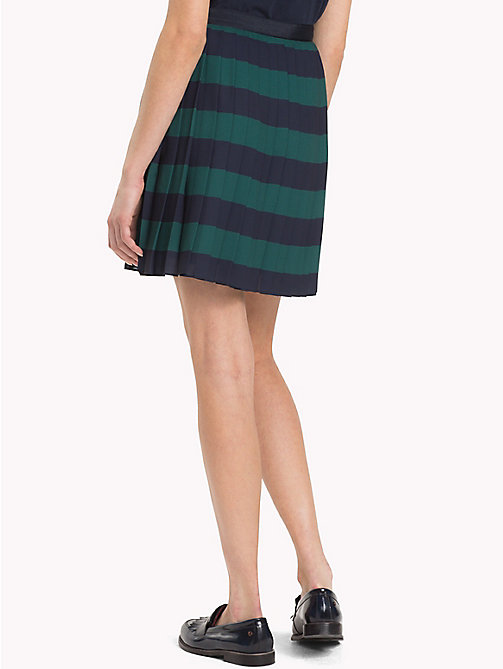 TOMMY HILFIGER Pleated Chiffon Skirt - JUNE BUG / SKY CAPTAIN STP - TOMMY HILFIGER Skirts - detail image 1