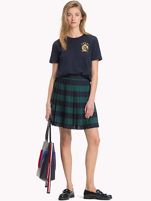 TOMMY HILFIGER Pleated Chiffon Skirt - JUNE BUG / SKY CAPTAIN STP - TOMMY HILFIGER Skirts - main image