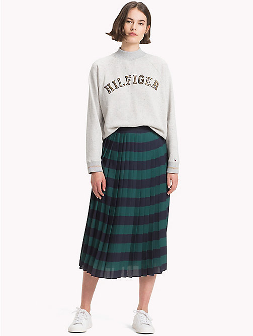 TOMMY HILFIGER Pleated Chiffon Midi Skirt - JUNE BUG / SKY CAPTAIN STP - TOMMY HILFIGER Skirts - main image