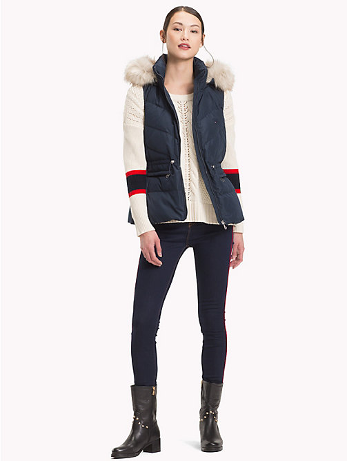 TOMMY HILFIGER Down Vest - MIDNIGHT - TOMMY HILFIGER Coats - detail image 1
