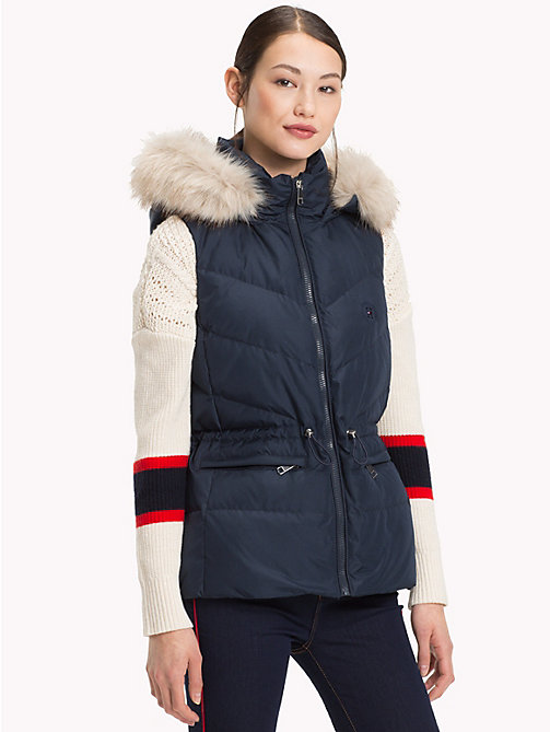 TOMMY HILFIGER Down Vest - MIDNIGHT - TOMMY HILFIGER Sustainable Evolution - main image