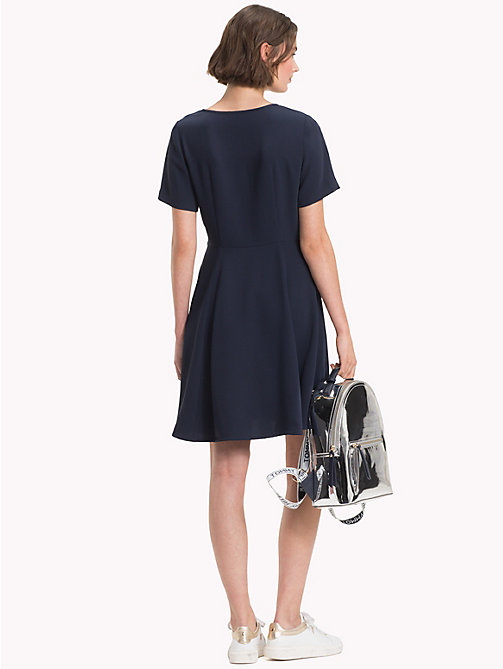 TOMMY HILFIGER V-Neck Satin Dress - MIDNIGHT - TOMMY HILFIGER NEW IN - detail image 1