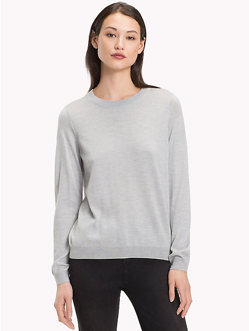 f39c1d376232 -50% TOMMY HILFIGER Pullover mit Twist-Detail - LIGHT GREY HTR - TOMMY  HILFIGER Sale Damen ...