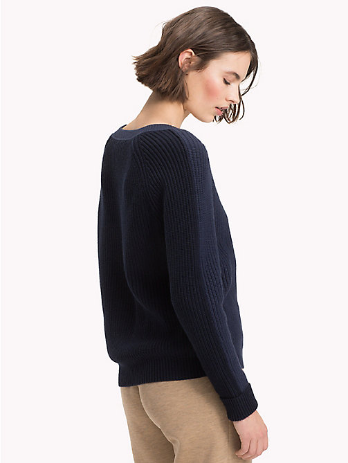 TOMMY HILFIGER Wool Cashmere Jumper - MIDNIGHT - TOMMY HILFIGER Winter Warmers - detail image 1