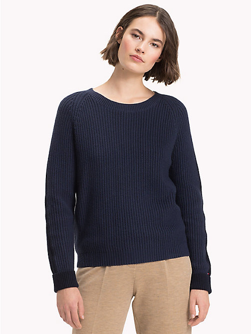 TOMMY HILFIGER Wool Cashmere Jumper - MIDNIGHT - TOMMY HILFIGER Winter Warmers - main image