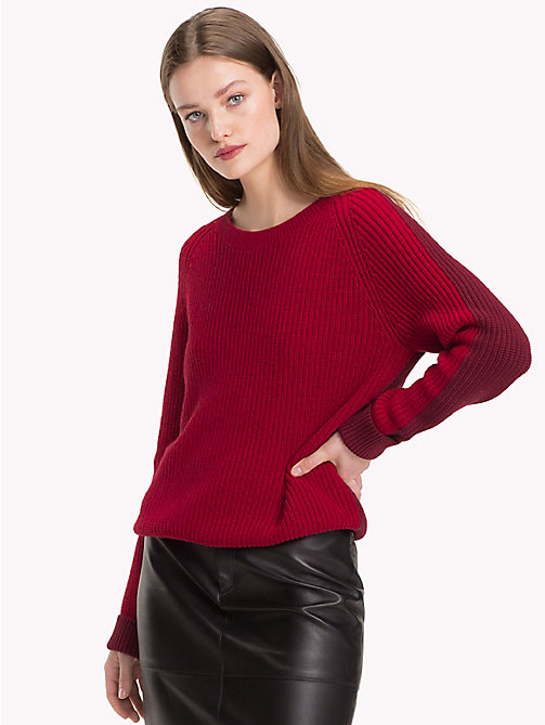TOMMY HILFIGER Wool Cashmere Jumper - CABERNET - TOMMY HILFIGER Winter Warmers - main image