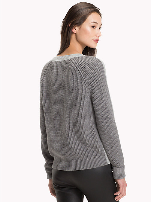 TOMMY HILFIGER Wool Cashmere Jumper - MEDIUM GREY HTR - TOMMY HILFIGER Winter Warmers - detail image 1