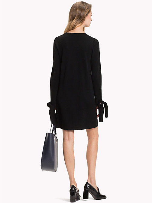TOMMY HILFIGER Bow Sleeve Jumper Dress - BLACK BEAUTY - TOMMY HILFIGER Mini - detail image 1