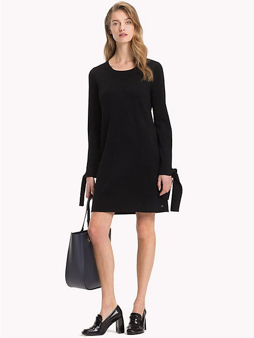 TOMMY HILFIGER Bow Sleeve Jumper Dress - BLACK BEAUTY - TOMMY HILFIGER Mini - main image