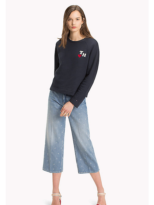 TOMMY HILFIGER Heart Embroidery Jumper - SKY CAPTAIN / BADGES - TOMMY HILFIGER Sweatshirts - main image