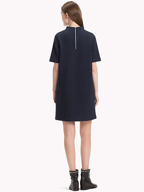 TOMMY HILFIGER High Neck Dress - MIDNIGHT - TOMMY HILFIGER Mini - detail image 1