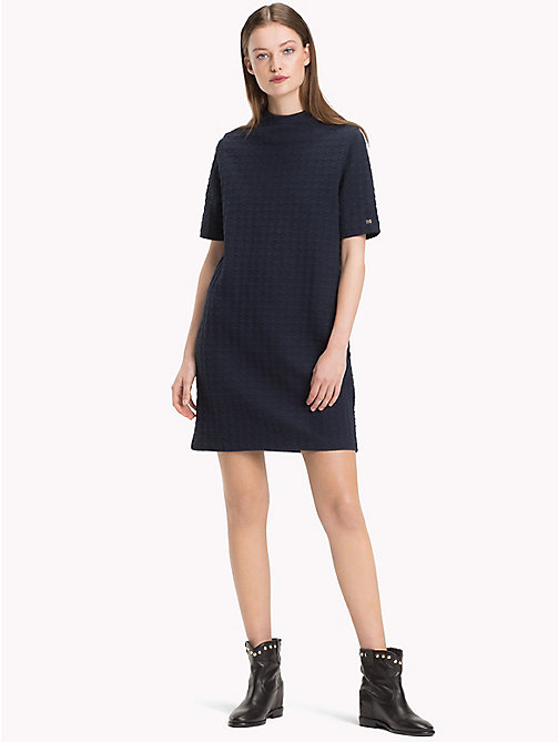TOMMY HILFIGER High Neck Dress - MIDNIGHT - TOMMY HILFIGER Dresses - main image