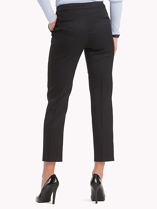 TOMMY HILFIGER Slim fit broek met stretch - BLACK BEAUTY - TOMMY HILFIGER Broeken & Korte broeken - detail image 1