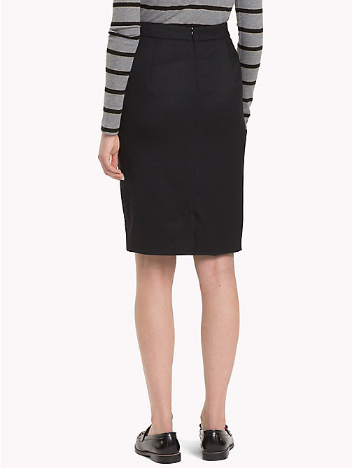 TOMMY HILFIGER Stretch Wool Pencil Skirt - BLACK BEAUTY - TOMMY HILFIGER TEST PARENT - detail image 1
