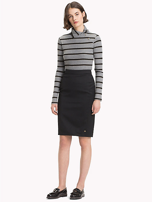 TOMMY HILFIGER Stretch Wool Pencil Skirt - BLACK BEAUTY - TOMMY HILFIGER TEST PARENT - main image