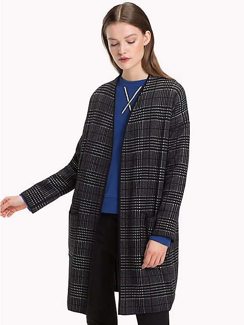 TOMMY HILFIGER Cardigan lungo reversibile - BLACK BEAUTY / LIGHT GREY HTR - TOMMY HILFIGER Cardigan - immagine principale