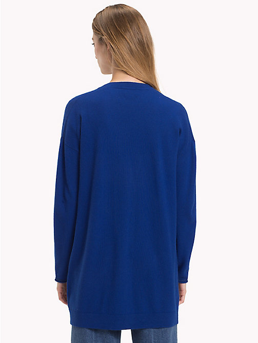 TOMMY HILFIGER Mid-Length Cardigan - MAZARINE BLUE - TOMMY HILFIGER Black Friday Women - detail image 1
