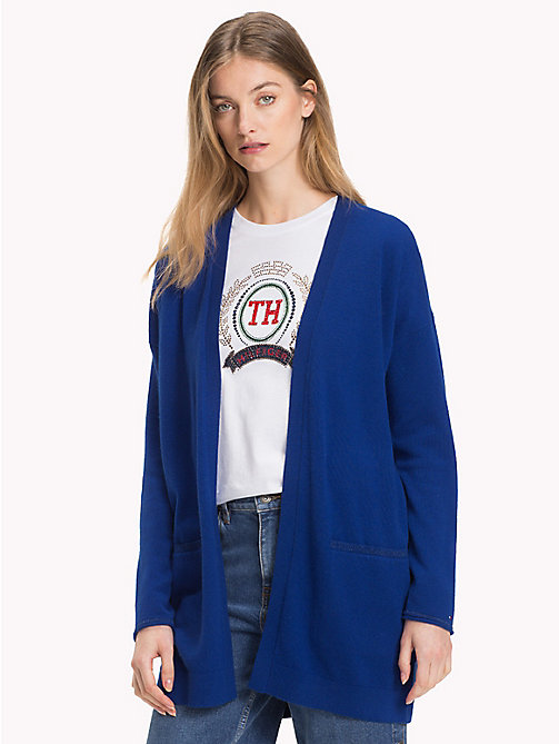 TOMMY HILFIGER Mid-Length Cardigan - MAZARINE BLUE - TOMMY HILFIGER Clothing - main image