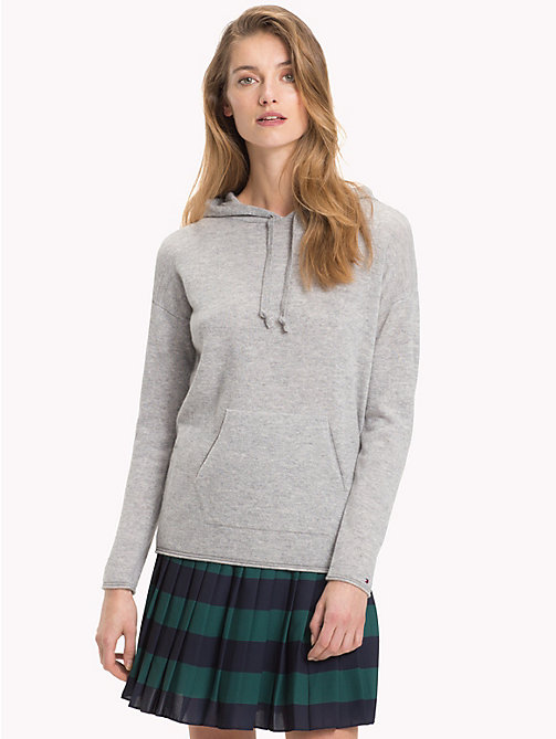 TOMMY HILFIGER Pullover Hoody - LIGHT GREY HTR - TOMMY HILFIGER Jumpers - main image