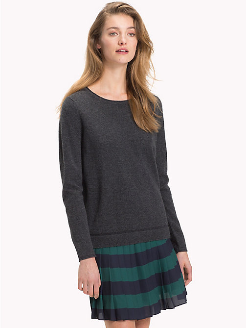TOMMY HILFIGER Cashmere Wool Blend Jumper - DARK GREY HTR - TOMMY HILFIGER Jumpers - main image