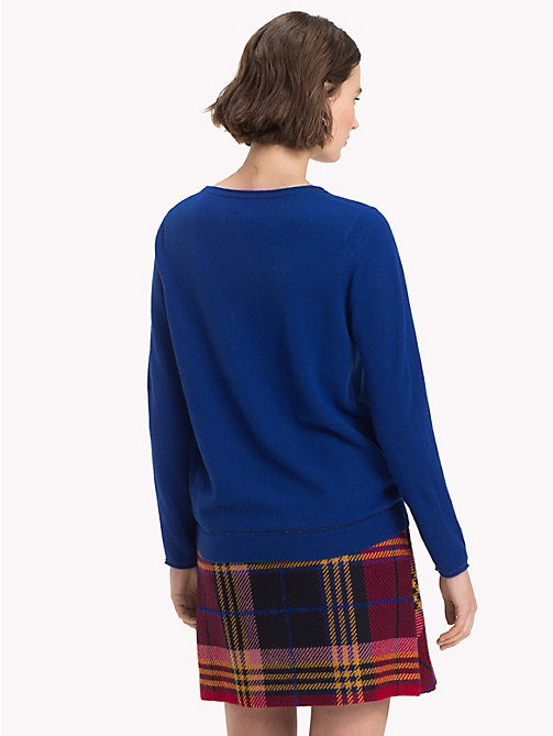 TOMMY HILFIGER Cashmere Wool Blend Jumper - MAZARINE BLUE - TOMMY HILFIGER NEW IN - detail image 1