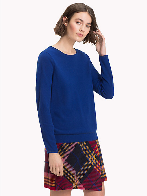 TOMMY HILFIGER Cashmere Wool Blend Jumper - MAZARINE BLUE - TOMMY HILFIGER NEW IN - main image