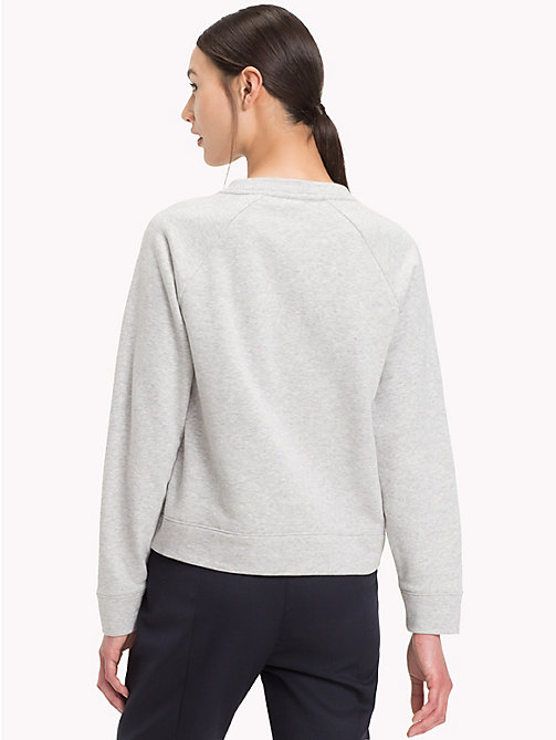 TOMMY HILFIGER Sparkle Crest Sweatshirt - LIGHT GREY HTR - TOMMY HILFIGER Clothing - detail image 1