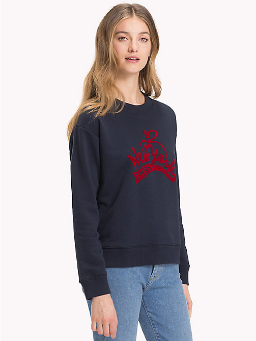 TOMMY HILFIGER Vintage Logo Sweatshirt - MIDNIGHT - TOMMY HILFIGER What to wear - main image
