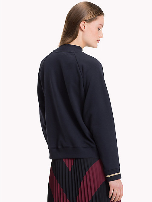 TOMMY HILFIGER Mock Neck Logo Sweatshirt - MIDNIGHT - TOMMY HILFIGER Sweatshirts & Knitwear - detail image 1