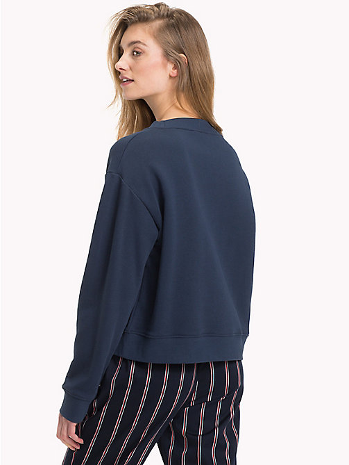 TOMMY HILFIGER Sweatshirt mit Strass-Wappen - MIDNIGHT - TOMMY HILFIGER TEST PARENT - main image 1