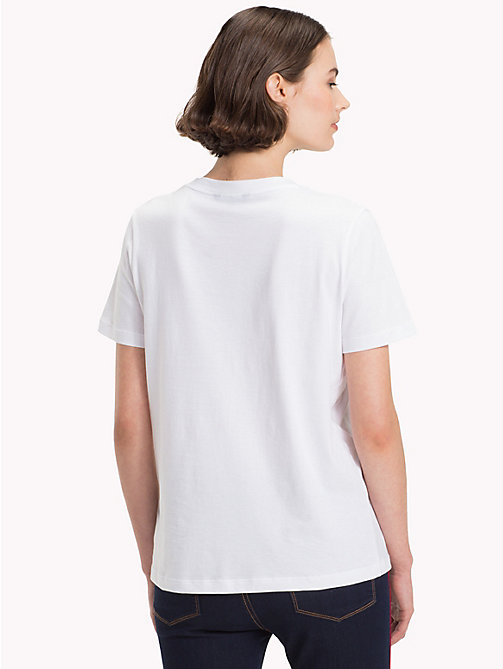 TOMMY HILFIGER T-shirt en coton bio - CLASSIC WHITE - TOMMY HILFIGER Sustainable Evolution - image détaillée 1