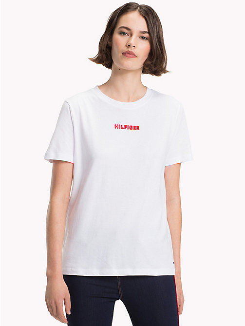 TOMMY HILFIGER T-shirt en coton bio - CLASSIC WHITE - TOMMY HILFIGER Sustainable Evolution - image principale