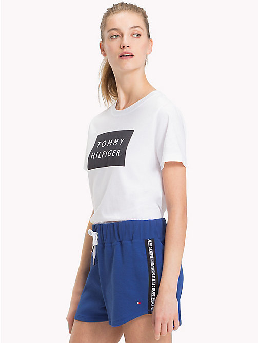 TOMMY HILFIGER Tommy Hilfiger Logo Cotton Jersey T-Shirt - CLASSIC WHITE / BLACK - TOMMY HILFIGER T-Shirts - main image