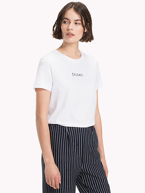 TOMMY HILFIGER Slogan Crew Neck T-Shirt - CLASSIC WHITE / BL.BEAUTY - TOMMY HILFIGER T-Shirts - main image