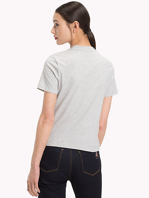 TOMMY HILFIGER Organic Cotton Logo T-Shirt - LIGHT GREY HTR - TOMMY HILFIGER What to wear - detail image 1