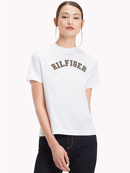 TOMMY HILFIGER T-shirt logo en coton bio - CLASSIC WHITE - TOMMY HILFIGER Sustainable Evolution - image principale