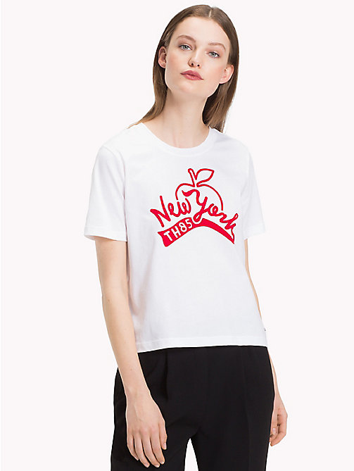 TOMMY HILFIGER City Slogan T-Shirt - CLASSIC WHITE / NY - TOMMY HILFIGER What to wear - main image