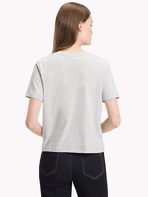 TOMMY HILFIGER Crew Neck Crest T-Shirt - LIGHT GREY HTR - TOMMY HILFIGER T-Shirts - detail image 1