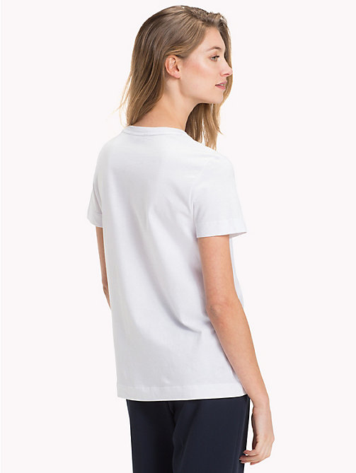 TOMMY HILFIGER Gem Organic Cotton T-Shirt - CLASSIC WHITE - TOMMY HILFIGER Sustainable Evolution - detail image 1