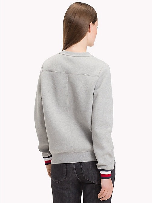 TOMMY HILFIGER Sweatshirt met signature-manchet - LIGHT GREY HTR - TOMMY HILFIGER Sweatshirts - detail image 1